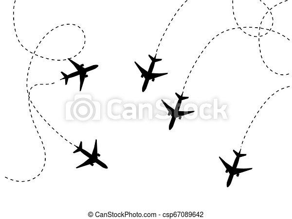 Plane Icon Vector Flat Illustration Pictogram Isolated On White