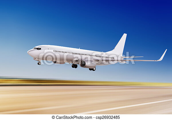 plane is flying up - csp26932485