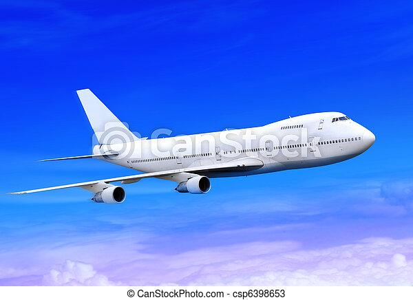 plane is landing in sky - csp6398653