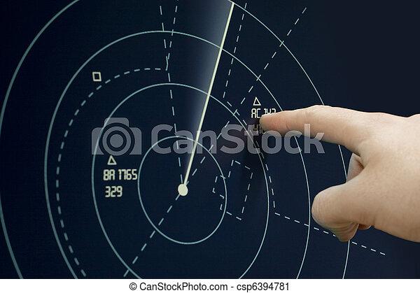 Plane on radar - csp6394781
