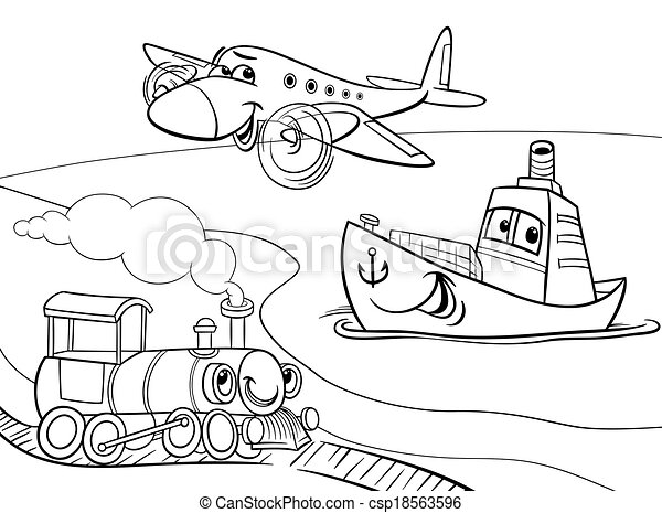 Plane #122 (Transportation) – Printable coloring pages | 354x450