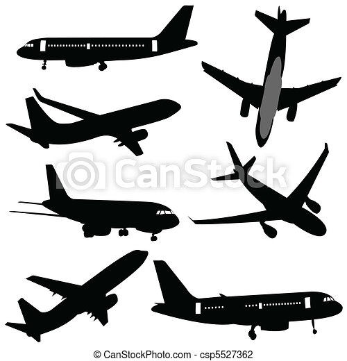 plane silhouettes - csp5527362