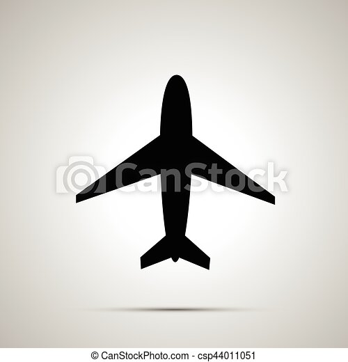 plane simple black icon vector