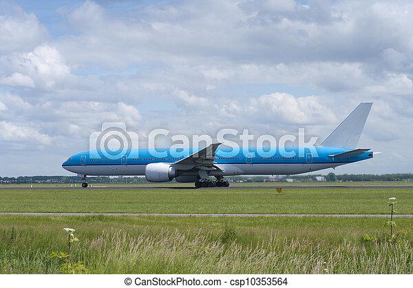 plane taking off - csp10353564
