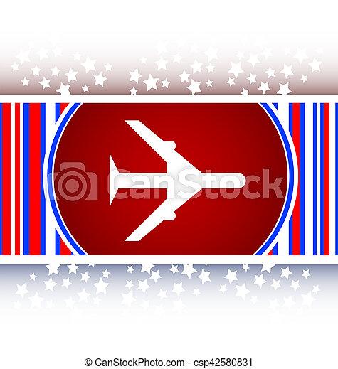 plane, travel web icon design element - csp42580831