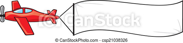plane with the banner - csp21038326