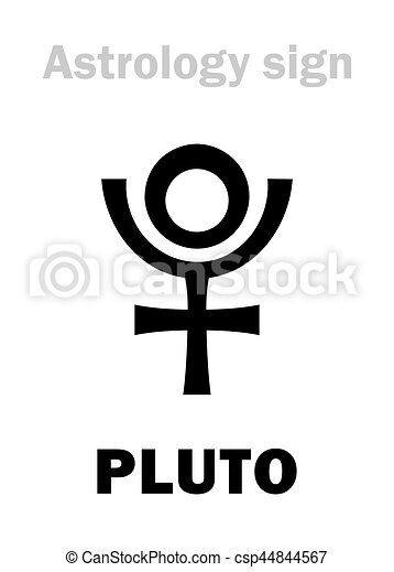 Planeet Astrology Pluto Symbol Globaal Clipart Vector