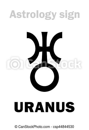 Planeet Astrology Uranus Symbol Single Globaal Vectors
