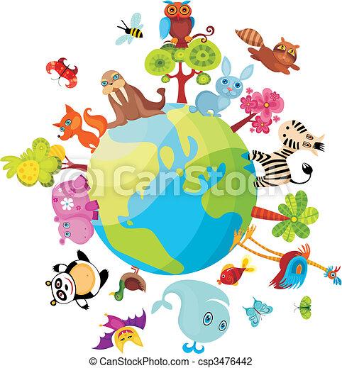 planeet, dieren - csp3476442