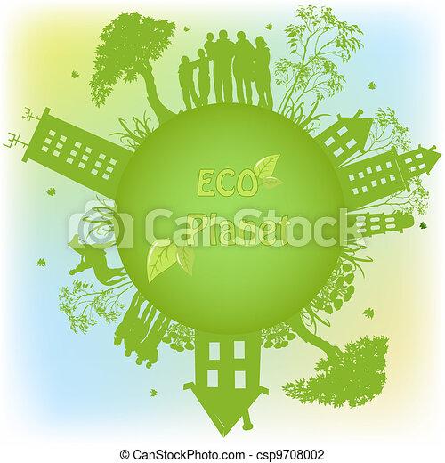 planeet, ecologisch, groene - csp9708002