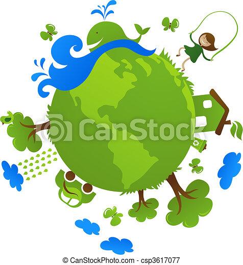 planeet, groene - csp3617077