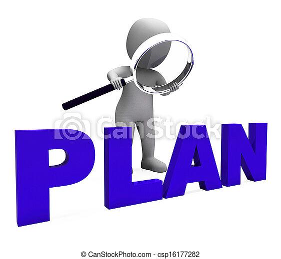 planes, objetivos, carácter, planificación, plan, organizador, exposiciones - csp16177282