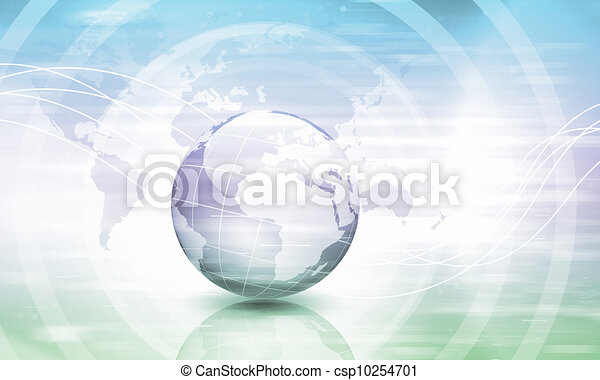 Planet earth and technology background - csp10254701