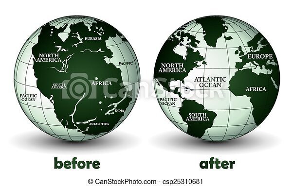 Line Art Earth : Planet earth before and after vector search clip art