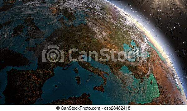 Highly Detailed D Render Using Satellite Imagery Nasa - Detailed satellite imagery