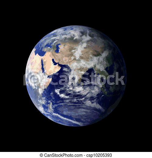 Planet Earth from space - csp10205393