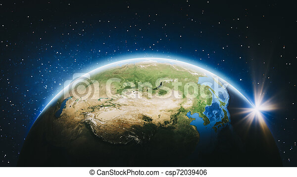 Planet Earth from space - East Asia - csp72039406
