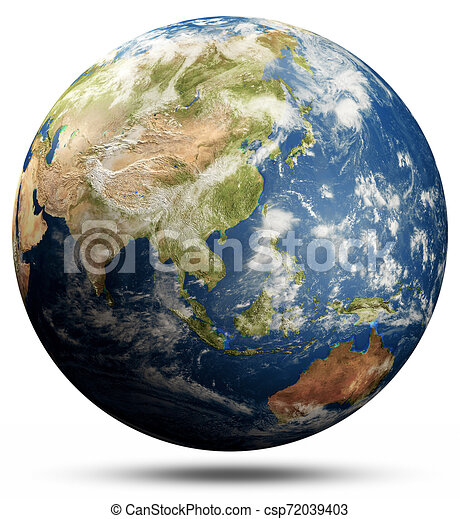 Planet Earth globe - South-East Asia - csp72039403