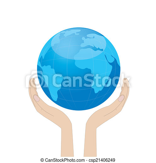 planet earth in hands - csp21406249