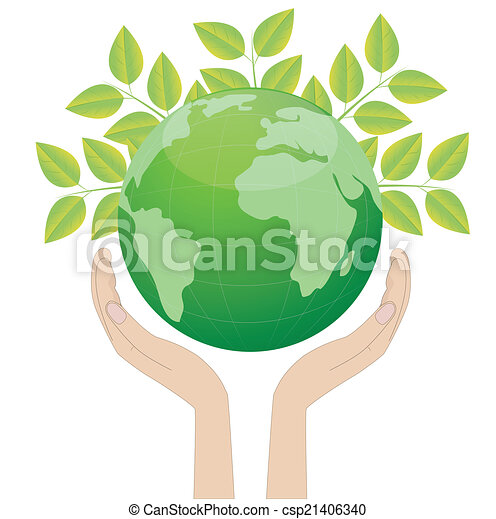 planet earth in hands - csp21406340