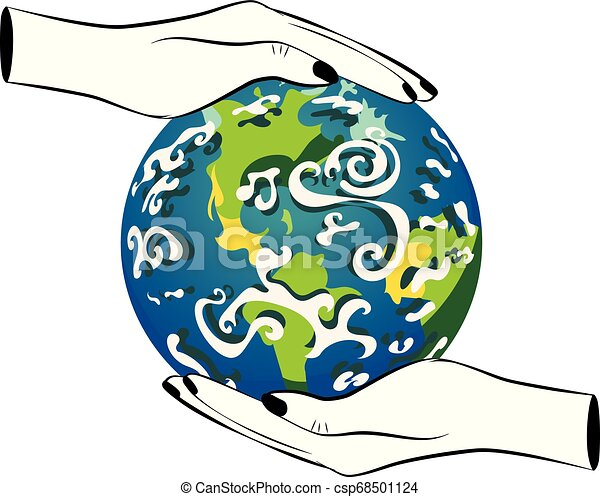 Planet Earth in human hands - csp68501124