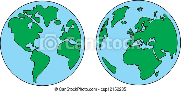 Planet Earth Vector Illustration Planet Earth Green And Blue Vector