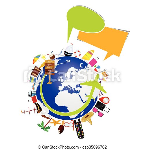 planet earth with travel sign illustration in colorful clip art rh canstockphoto com planet earth clipart free planet earth images clipart