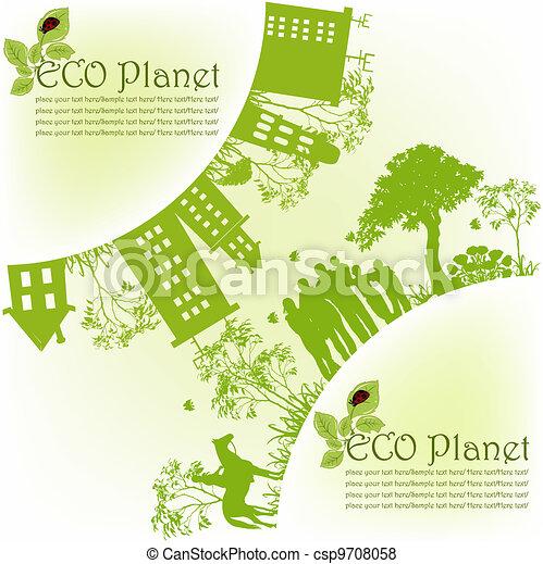 planet, ekologisk, grön - csp9708058