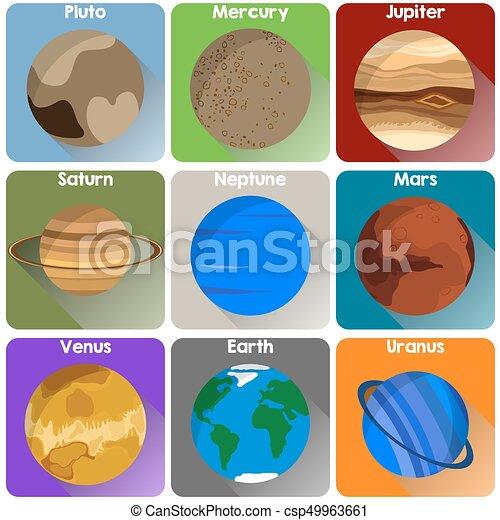 Planet icons - csp49963661