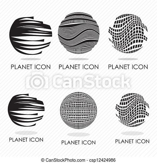 Planet icons - csp12424986