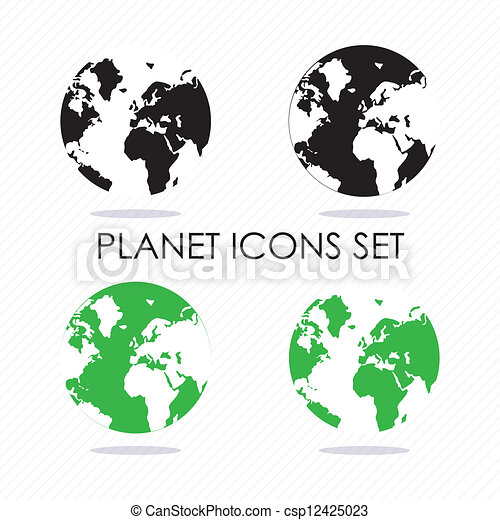 Planet icons - csp12425023