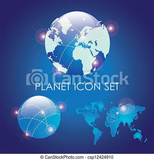 Planet icons - csp12424910