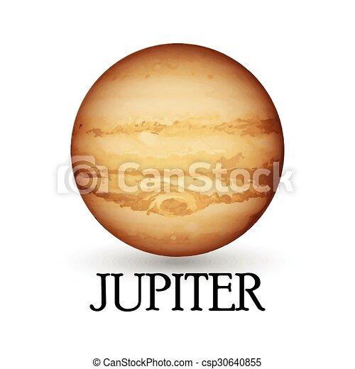 illustration of planet jupiter rh canstockphoto com jupiter god clipart jupiter clipart png
