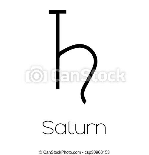Illustrated Planet Symbols Saturn