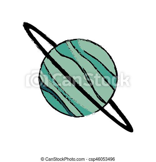 planet uranus astronomy universe icon vector illustration eps 10 rh canstockphoto com