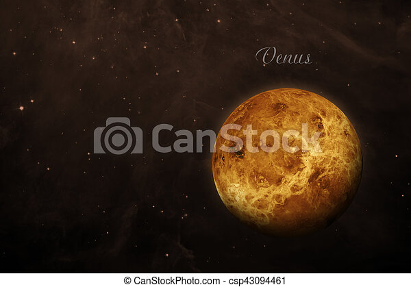 Planet Venus. Elements of this image furnished by NASA. - csp43094461