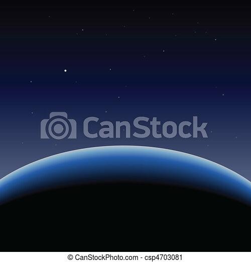 Horizon del planeta azul Tierra - csp4703081