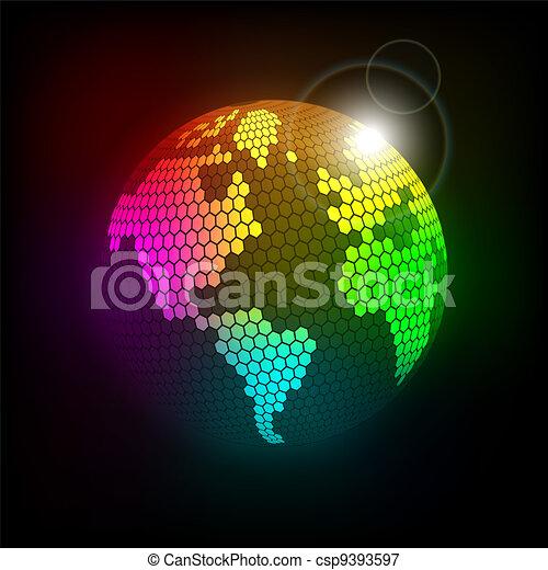 Planeta celular brillante - csp9393597