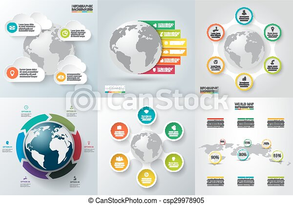 Vector de datos con el planeta Tierra. - csp29978905