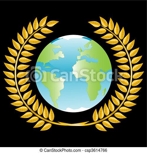 Planeta en la corona de oro - csp3614766