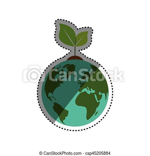 Ecología del planeta verde - csp45205884