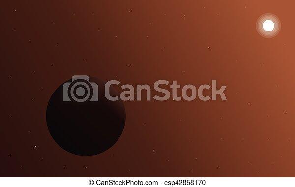 planeta, exterior, retro, plano de fondo, espacio - csp42858170