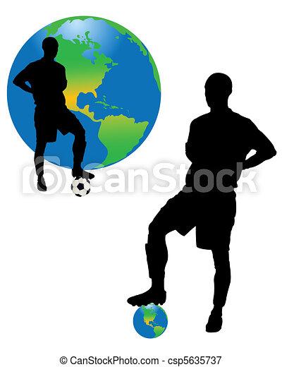 planeta, gracze, piłka nożna - csp5635737