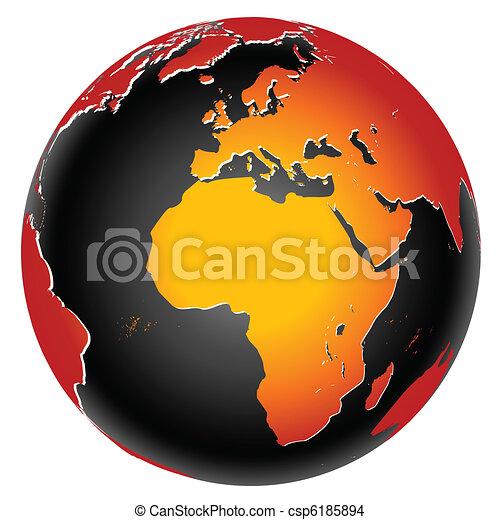 El icono mundial del planeta Tierra - csp6185894