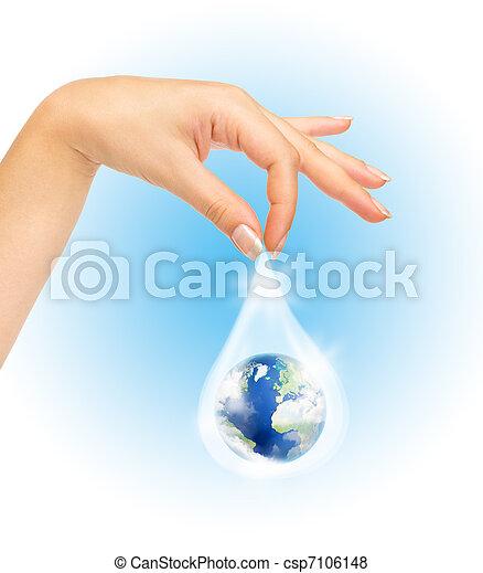 El símbolo de salvar el planeta - csp7106148