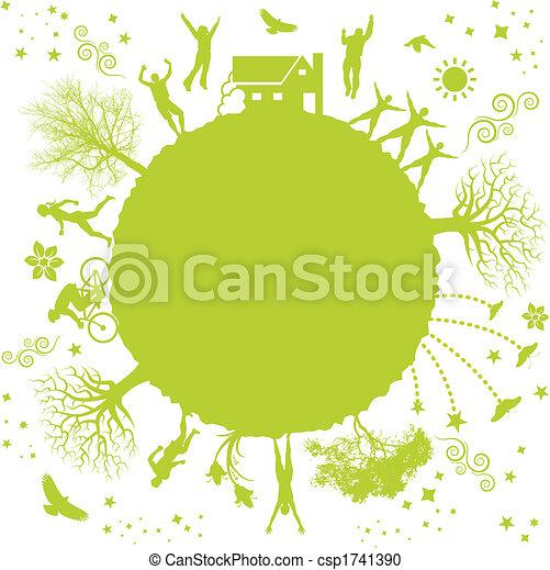 planeta, verde - csp1741390