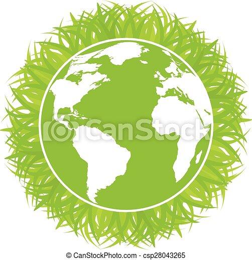El concepto ecología del planeta verde - csp28043265