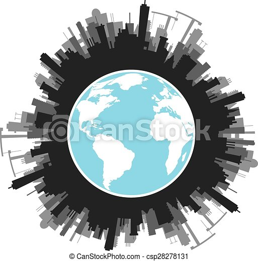 El concepto ecología del planeta verde - csp28278131