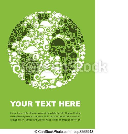 Planeta verde - csp3858943