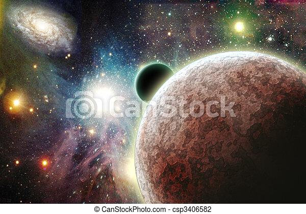 Planetas en el espacio - csp3406582